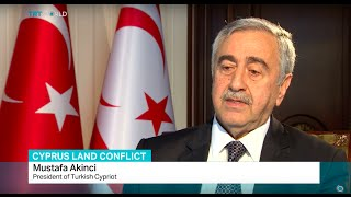 Interview with Turkish Cypriot President Mustafa Akinci on Cyprus land conflict