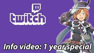 Info video: 1 year anniversary @Twitch | 1 year of streaming highlights