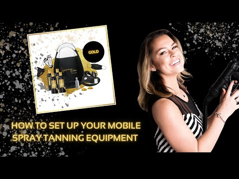 How To Set Up Mobile Tanning | Spray Tan Certification Class | How To Spray Tan | Kelly Callaghan