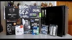 Intel i5 6600K $1000 Gaming PC Build - GTX 1060 (2017)