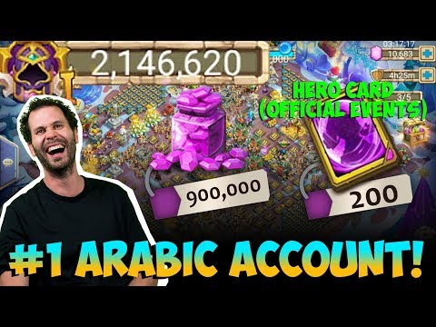 Number 1 Arabic Account Review INSANE Castle Clash