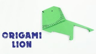 Origami Lion : How To Make An Origami Lion | Origami LION Simple and Easy Tutorial For beginners