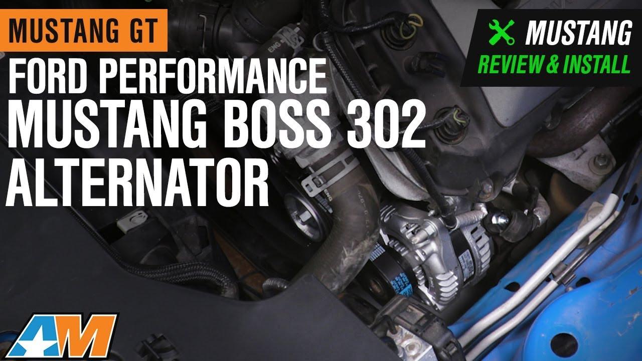ford performance mustang mustang boss 302 alternator kit m 8600 m50balt 11 14 gt  [ 1280 x 720 Pixel ]