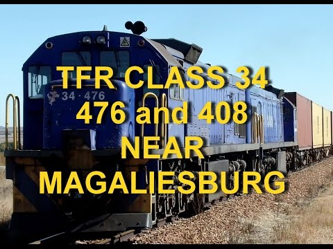 SOUTH AFRICAN TRAINS: Transnet Freight Rail, Class 34-676 and -408