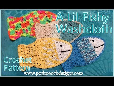 A Lil Fishy Washcloth Crochet Pattern