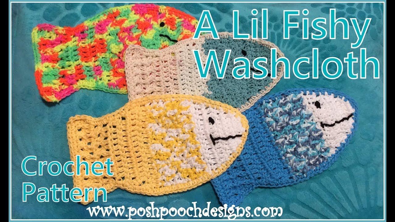 A Lil Fishy Washcloth Crochet Pattern - YouTube