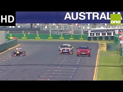 Red Bull F1 vs V8 Supercar vs C63 AMG (2014, Melbourne Australia)