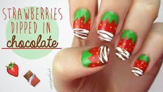 Strawberry Nails Dipped In REAL Chocolate?! + BIG NEWS!