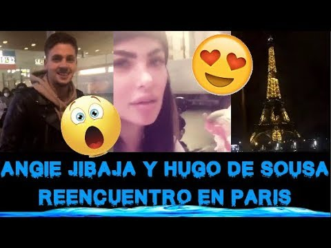 ANGIE JIBAJA REENCUENTRO CON HUGO EN PARIS