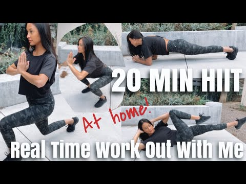 Fabletics TRY ON Haul & 20 Min  Body HIIT WORKOUT  FOLLOW ALONG