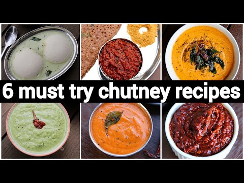 6 Must Try Chutney Recipes In 10 Minutes For Breakfast | 6 चटनी रेसिपी | Easy Chutney Recipes