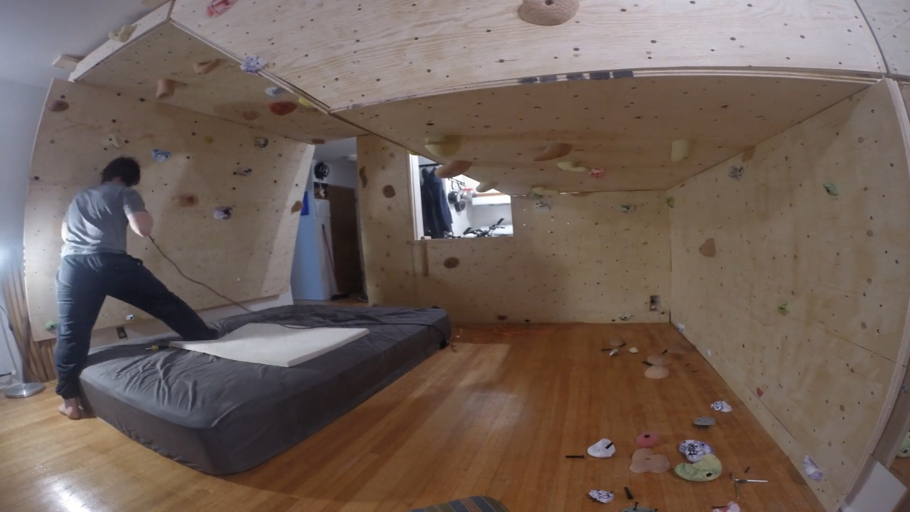 How To Build A Bouldering Wall In Your Home - YouTube