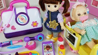 Baby Doll doctor Kit and Ambulance hospital car toys play - 토이몽
