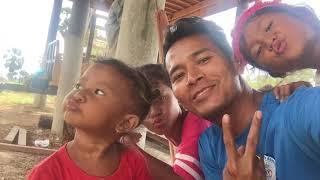 My nieces , nephew to examination visit Phnom Penh city