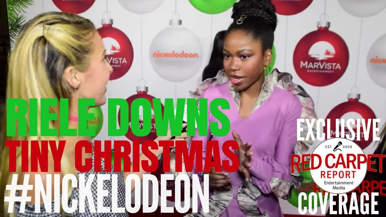 """Download Riele Downs interviewed at Nickelodeon's """"Tiny Christmas"""" Screening Event"""