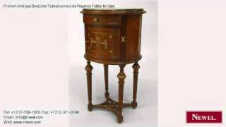French Antique Bedside Table/commode Regence Tables For