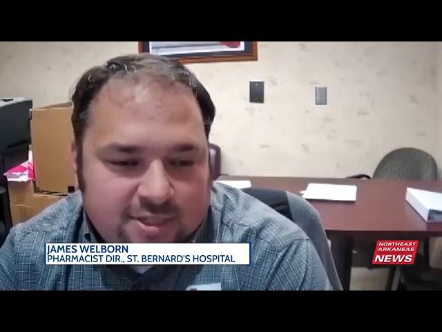 St. Bernard's Hospital receiving 975 Pfizer vaccines