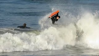 Donastien with Ryan Hardy at Bali Bodyboarding