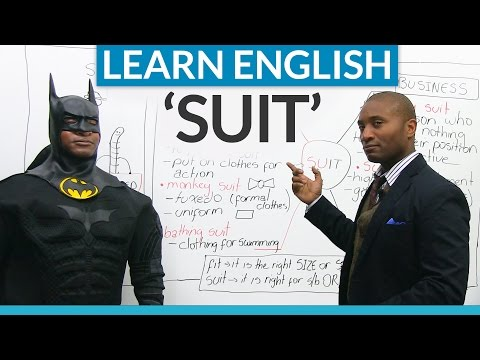 """Idioms and expressions in English with """"SUIT"""""""