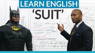 "Idioms and expressions in English with ""SUIT"""
