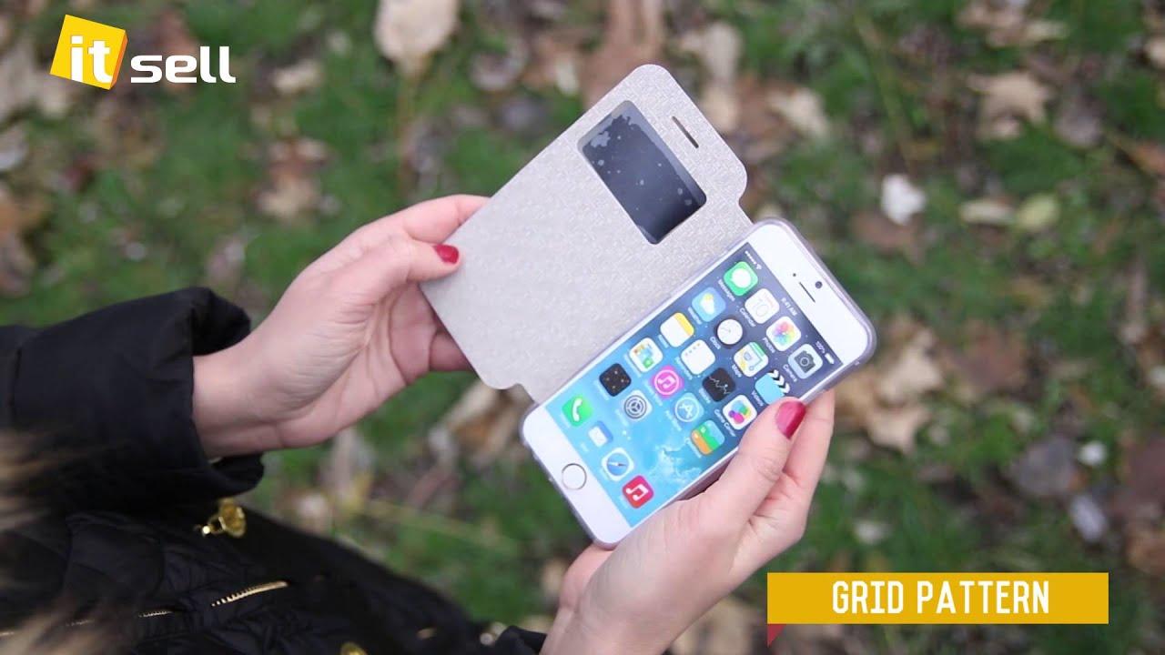 Кожаный чехол (книжка) nillkin sparkle series для apple iphone 6/6s (4. 7