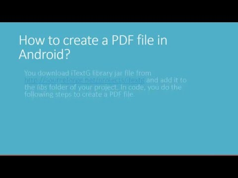 Android Create Pdf File