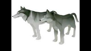 Papercraft Wolf