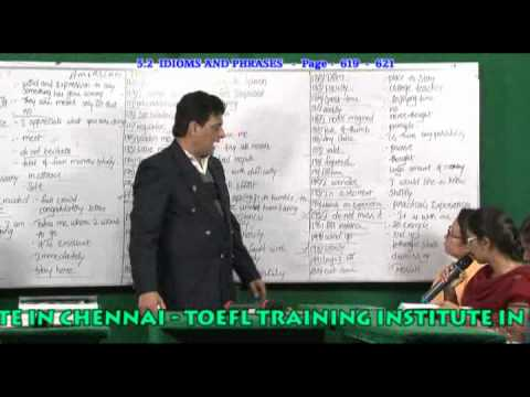 BEST IDIOMS AND PHRASES TRAINING  INSTITUTIOIN CHENNAI -   PH:9840749872