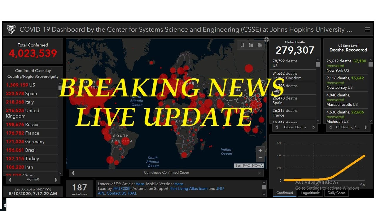 Live Corona Updates from all over the world