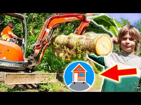 TINY HOUSE CONSTRUCTION TRUCKS LAND PREPPING