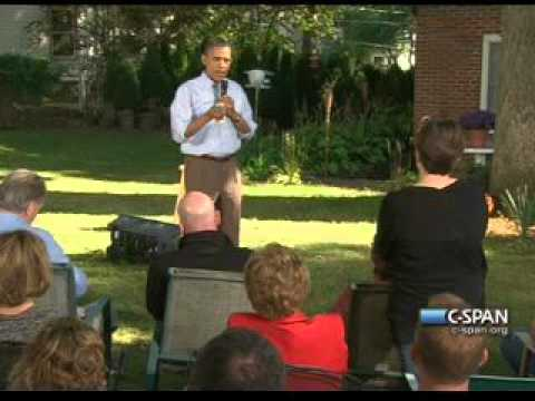 Pr. Obama - Iowa Backyard (3) Jobs Economy Debt - Des Moines