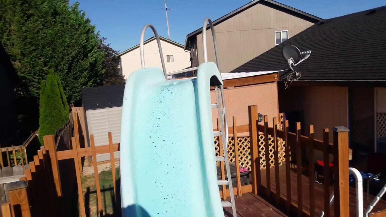 Intex Above Ground Pool 18x9 With A, Are There Slides For Above Ground Pools