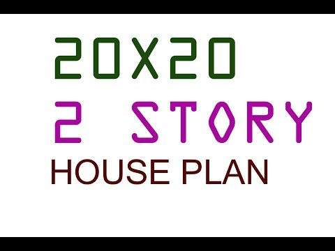 20X20 ft TWO STORY HOUSE PLAN - YouTube