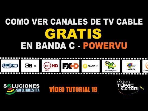Como ver Canales de TV Cable GRATIS en Banda C - Powervu