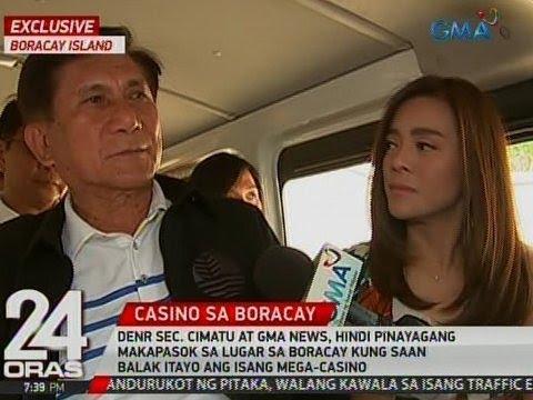 24 Oras: Exclusive: Sec. Cimatu at GMA News, 'di pinayagang makapasok sa pagtatayuan ng mega-casino
