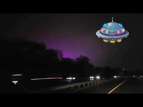 Mysterious purple sky over Prince George's County Maryland. #Area52