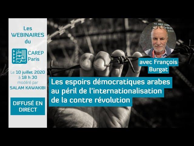 Webinaire 8: Espoirs démocratiques arabes au péril de l'internationalisation de la contre-révolution