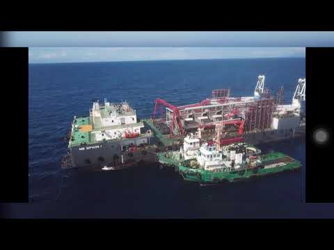 Onsite offshore platform for iron ore extraction in Gonzaga Cagayan #APL  #ApolloGlobalCapital #JDVC