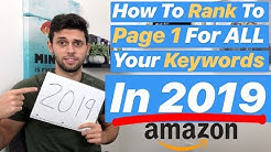 NEW 2019 Get Your Amazon Keywords To Page 1! Amazon FBA Keywords Updated Method