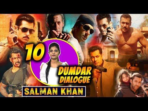Salman Khan Top 10 Best Dialogues Of His Career   Blockbuster Dialogue Of Bhaijaan   Fans Collection