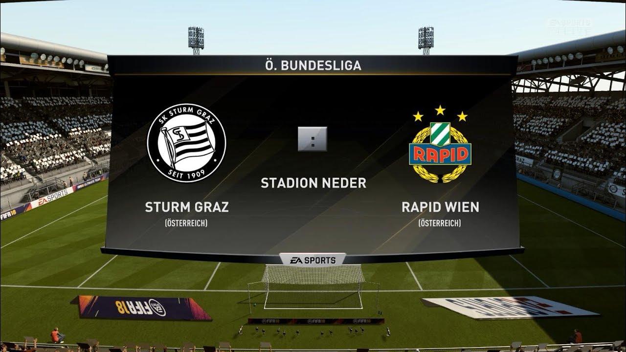 Fifa 18 Sturm Graz Vs Rapid Wien Youtube