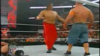 edge spear the great khali  WWE Raw 7/26/10