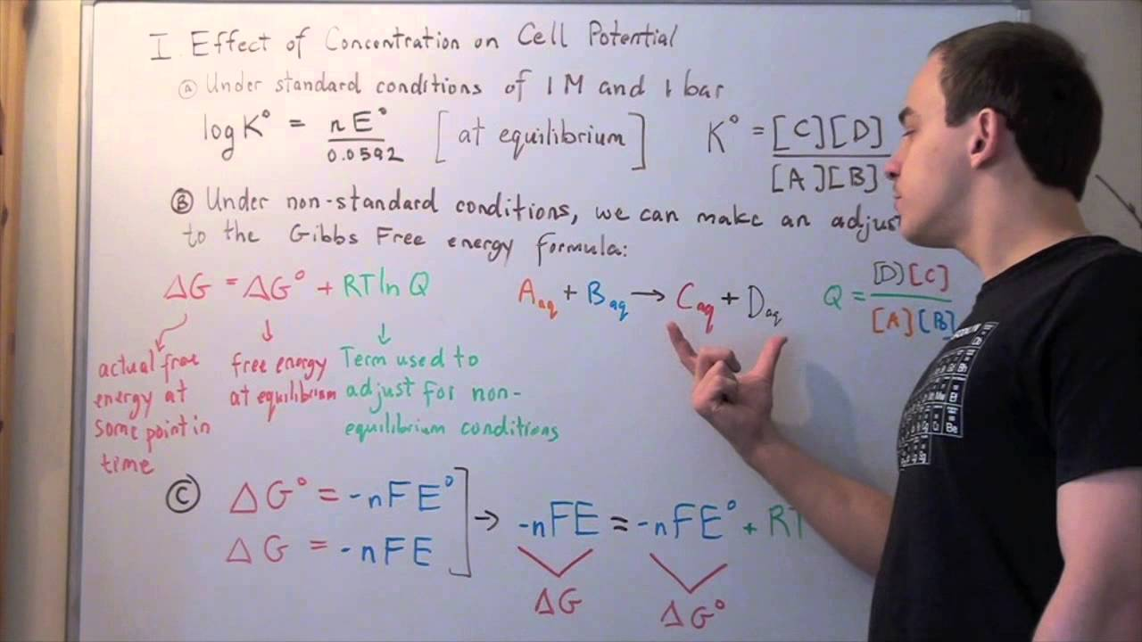 how to find overall standard potential for a cell