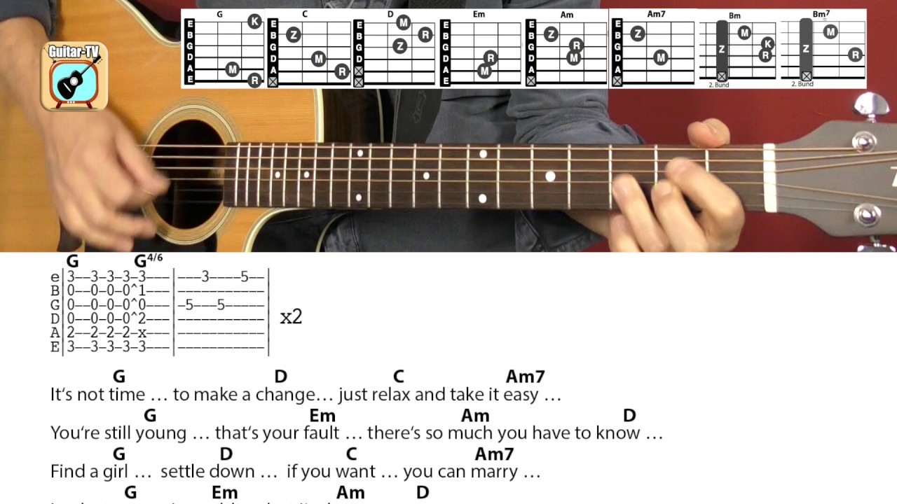 Father And Son  Cat Stevens/Yusuf Islam, Cover, Chords, Lyrics   Guitar  Lesson