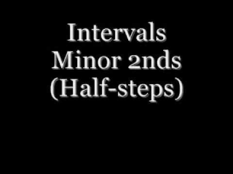 Ear Training - Intervals - Minor 2nds (half-steps)