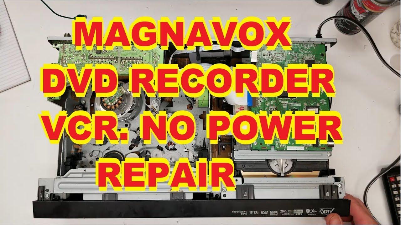 MAGNAVOX DVD RECORDER/VCR LIGHTS BLINK NO POWER REPAIR ZV457MG9