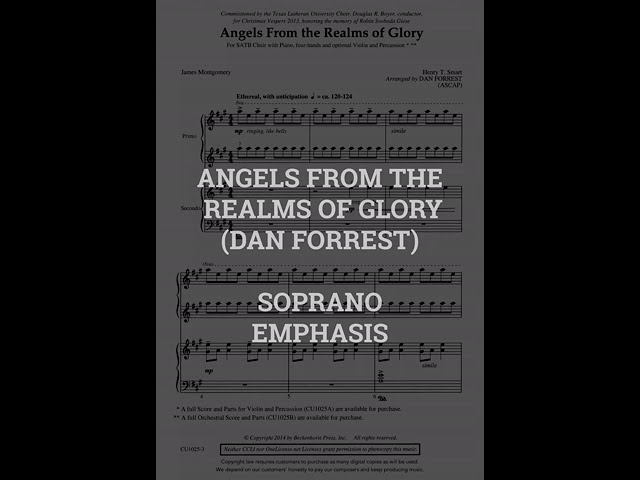 Angels From The Realms of Glory   SOPRANO