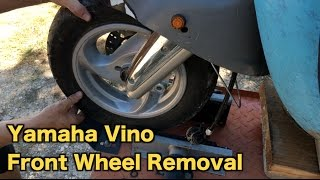 Yamaha Vino 125  Front Wheel Removal | Mitch's Scooter Stuff