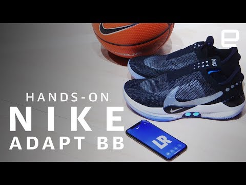 Nike's Adapt BB Hands-On: First app-controlled, self-lacing basketball shoes