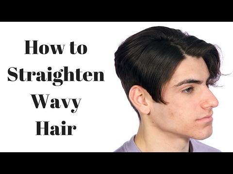 How to Make Wavy Hair Straight - TheSalonGuy